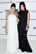 Ким Кардашиан, фото 7953. Kim Kardashian Elton John AIDS Foundation Academy Awards Party - 02/26/12*with sister Kourtney, foto 7953,